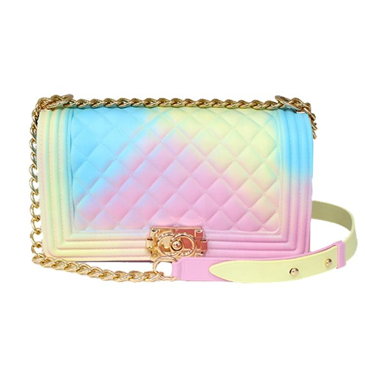 Wholesale One shoulder handbag pvc jelly bag jelly purse for girls and women