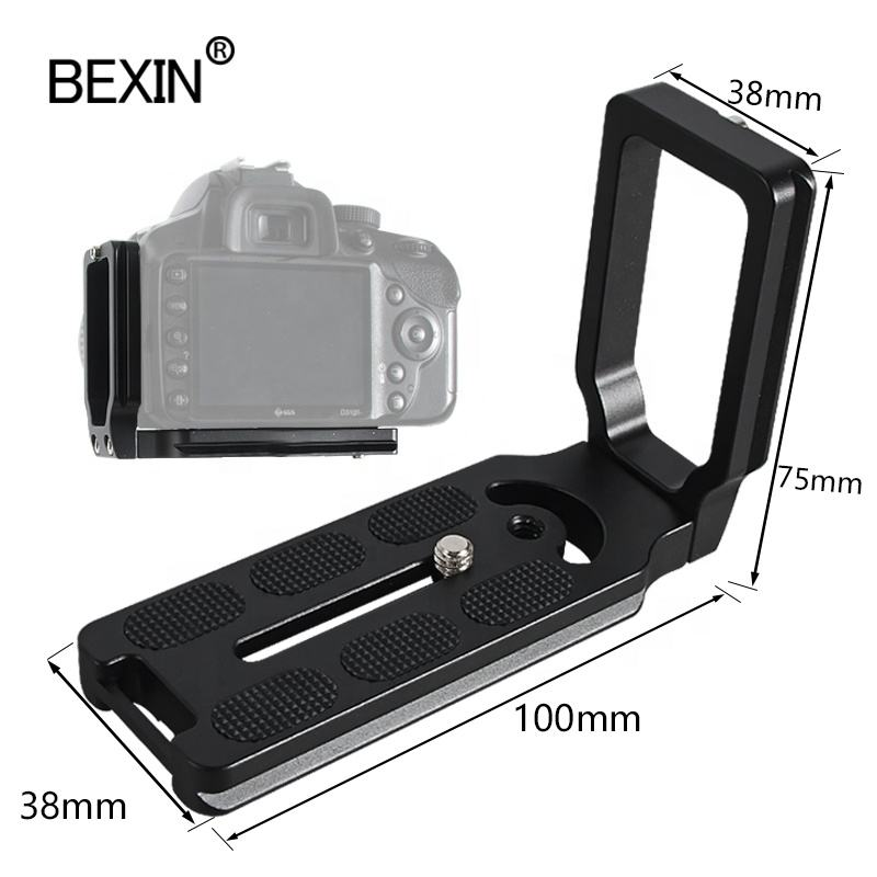 Hand grip support L-shaped vertical shoot Arca Swiss quick release plate tripod mount adapter L bracket for canon nikon camera