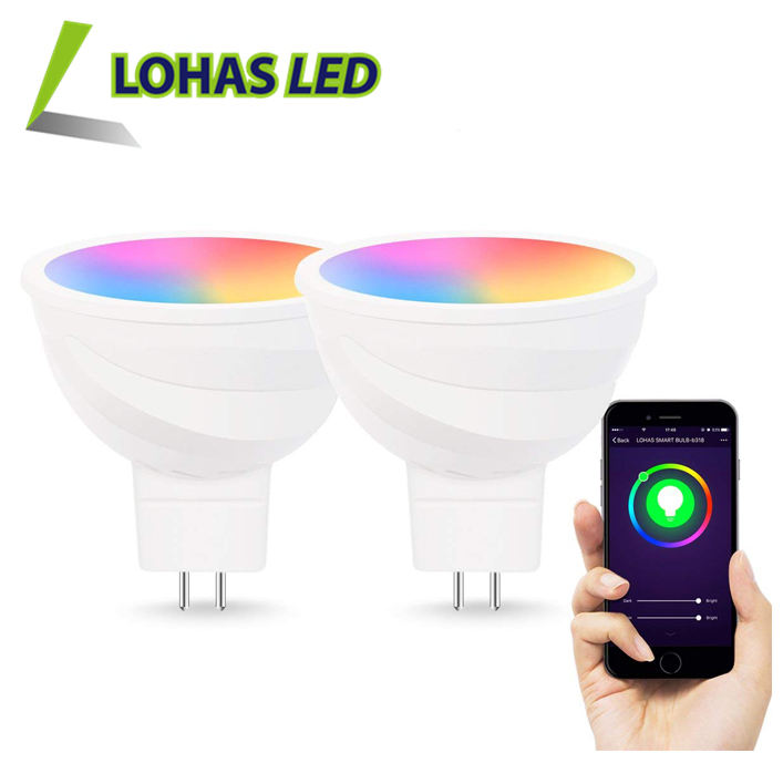 RGB+CCT 2700~6000K Tuya Smart Light Bulb 5W MR16 WiFi Smart Bulb Work With Alexa Google Home Siri