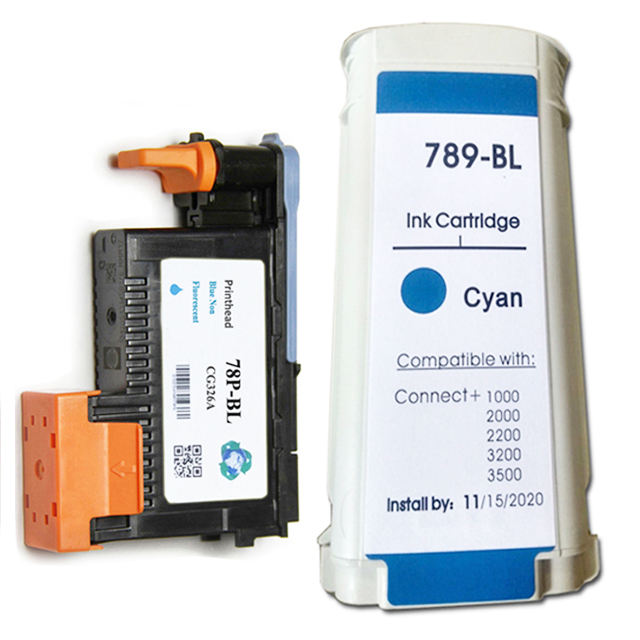 DSONG 789-BL Pitney Bowes Connect+ Blue Ink Cartridge