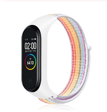 Replaceable Wristband For Xiaomi Mi Band 5 4 3 Nylon Strap Wrist Sports Bracelet For Mi band 4 Miband 5 Band4 smart watch Strap