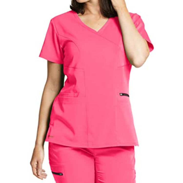 Customized Printing Hospital Grey's Anatomy Women's Kim Princess Scrubs Uniforms Short/Long Sleeve Medical Wear Clothing