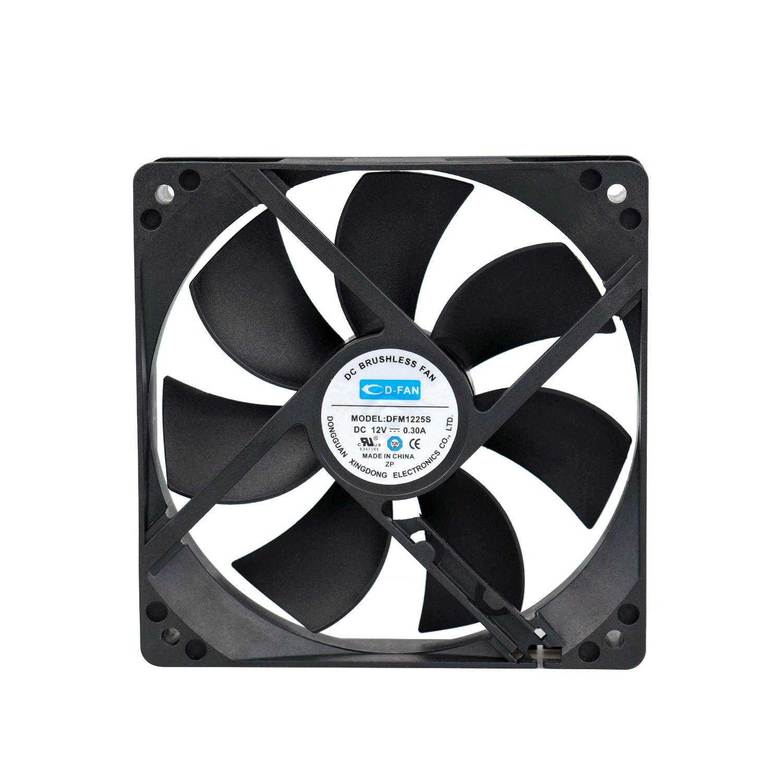 1225 24V 12v DC axial brushless fan 120mm 120X120X25mm 12v cooling fan