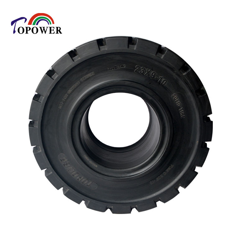 23*9-10 Superior Technology New Pattern Electric Forklift Trucks Industrial vehicles Solid Tyre