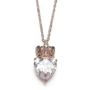 Wild Decorative Necklace Female Sweater Pendant Jewelry Accessories Sweater Crown Crystal Pendant