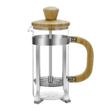 Eco-Friendly Customizable Logo Packaging Bamboo Coffee Maker French Press Coffee Plunger With Glass French Press