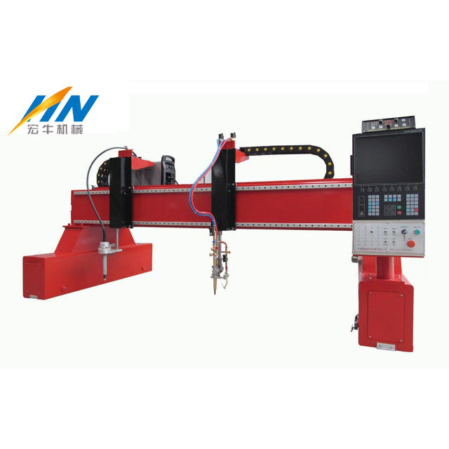 3*8M big working area gantry type plasma cutting machine double head with flame