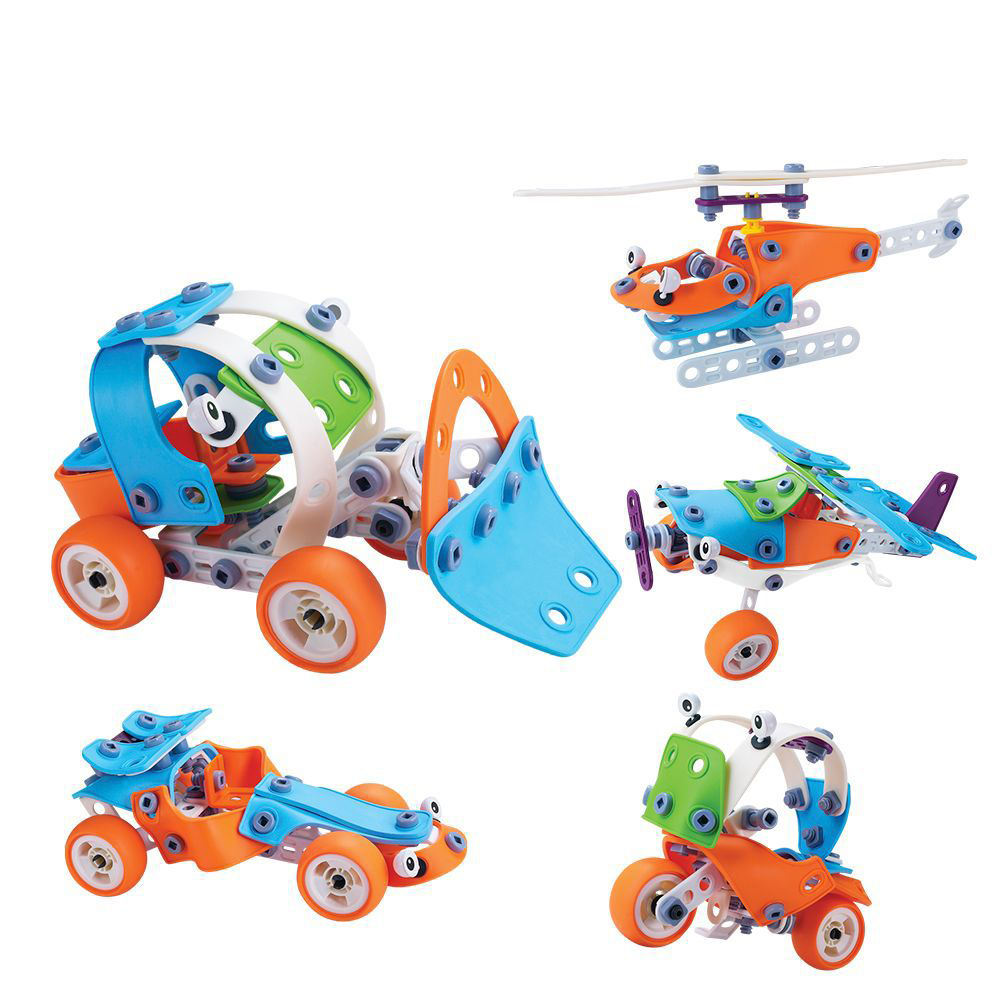Intelligent Self Assemble Puzzle Aircraft Flexible Construction Toys Set Educational DIY Plastic Building Block Toy For Children