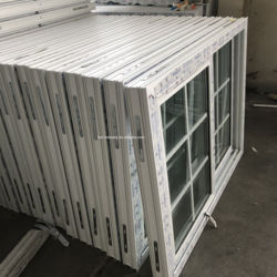 Cheap Hurricane proof impact window pvc sliding windows office glass sliding windows