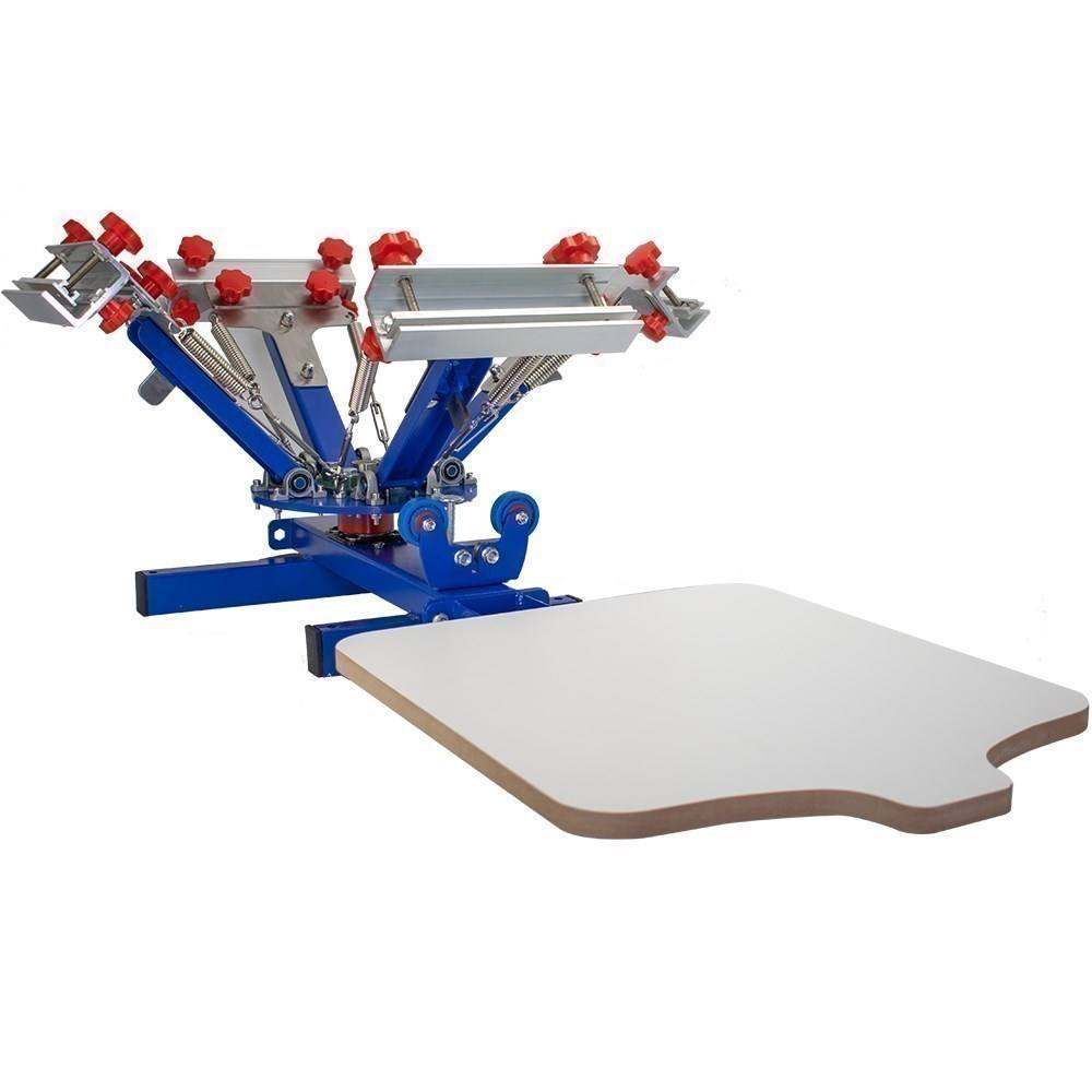Good quality 4 color 1 station diy screen printing table for sale at home with competitive price