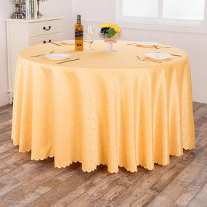 Classic High Quality GeometricTablecloth, Cheap Round Table Cloth Wholesale Jacquard Table Linen/