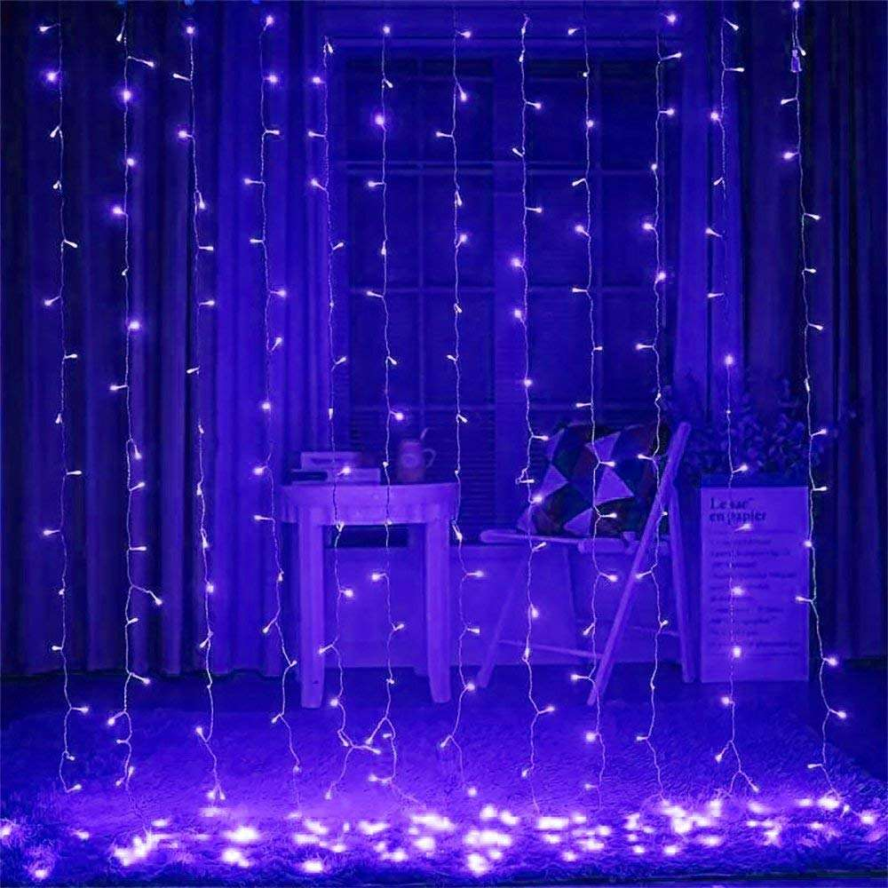 Festive & Party Christmas Light Supplies White Backdrop RGB Led Bulb Lighting Decoration STRING Fairy Curtain Light