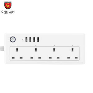 UK Smart Extension 4 Socket 4 USB Hub WiFi Tuya Smart Power Strip