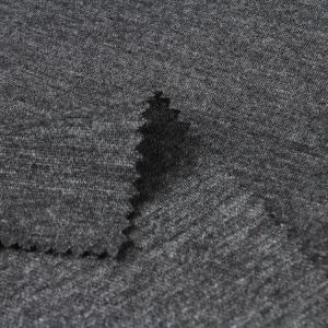 DARK Gray Heather Single Jersey Benang Dicelup Merajut Polyester Jersey Kain Kaos