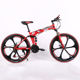 2018 New Style 26-Inch Full Suspension Folding Mountain Bike Double Disc Brakes Bike Folding