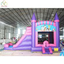 commercial princess inflatable water slide combo bounce house