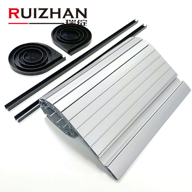 Furniture Kitchen Cabinet Plastic Roller Shutter PVC ABS Tambour Door Silver Plastic Tambour Door Slats For RV