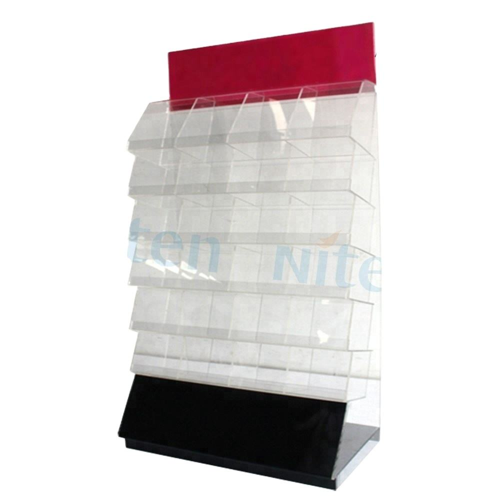Promotional pop floor acrylic odourless pick and mix candy display rack