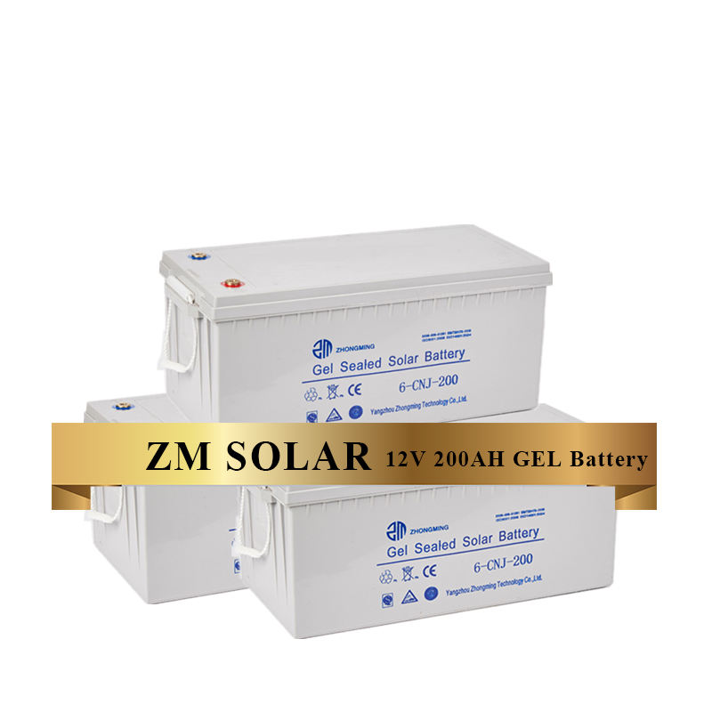 Factory Prices Top Grade Gel Agm Battery 12v 200ah Solar Battery For PV Energy Storage Use