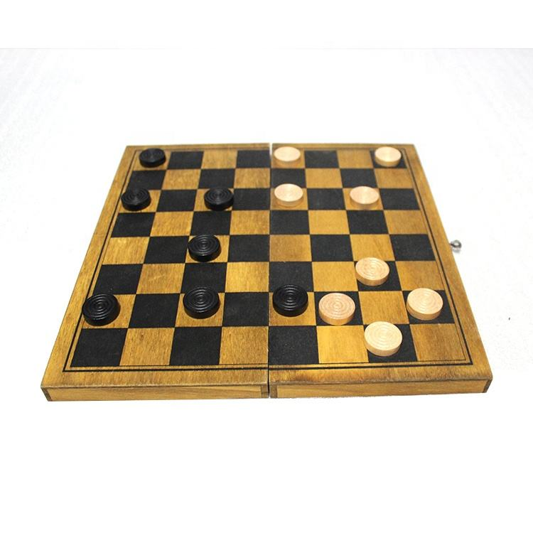 Aangepaste Indoor Houten <span class=keywords><strong>Checkers</strong></span> Board Game