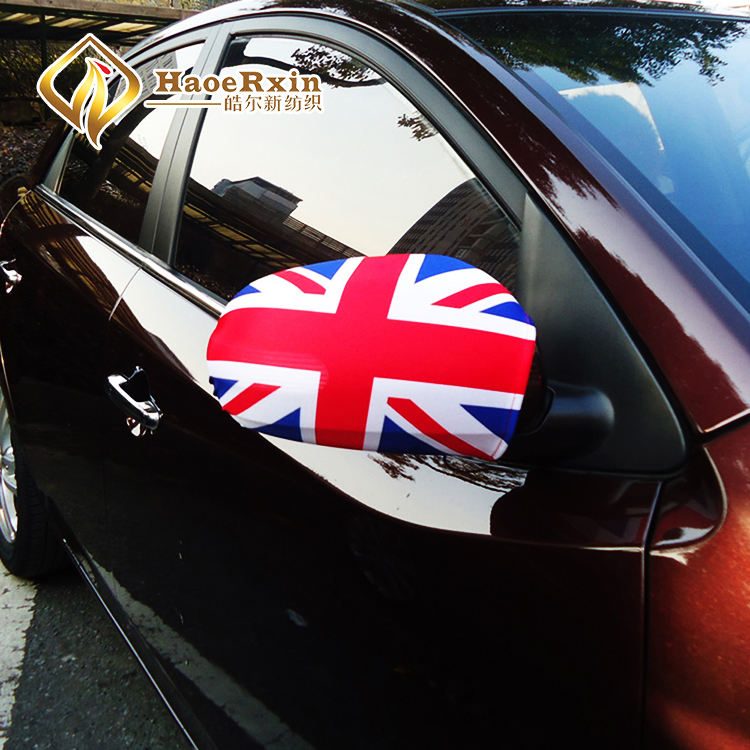 Factory supply Engeland aangepaste nationale UK auto spiegel vlag cover nieuwe