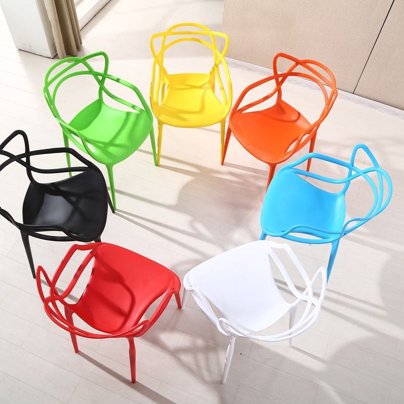 Cafe Chairs Cheap Price Wholesale Modern Stackable PP Restaurant Cafe Plastic Chairs For Sale
