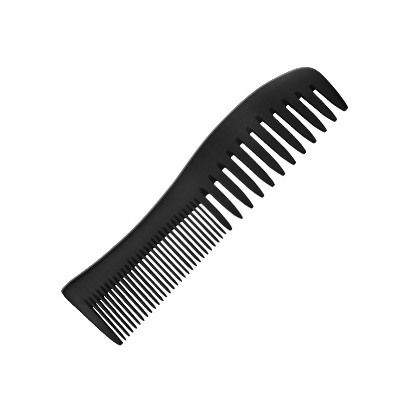 Factory Hot Selling Engraved Logo Curved Wide Tooth Bakelite Wood Hair Comb Wide Tooth Hair Comb Salon Home Use