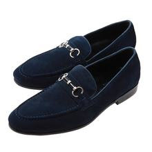 Men's business casual leather shoes frosted shoes pair of loafers with toe tips British fashion shoes for men