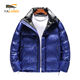 Hot sale fashion blue shiny windproof thick puffer jacket down coat winter children