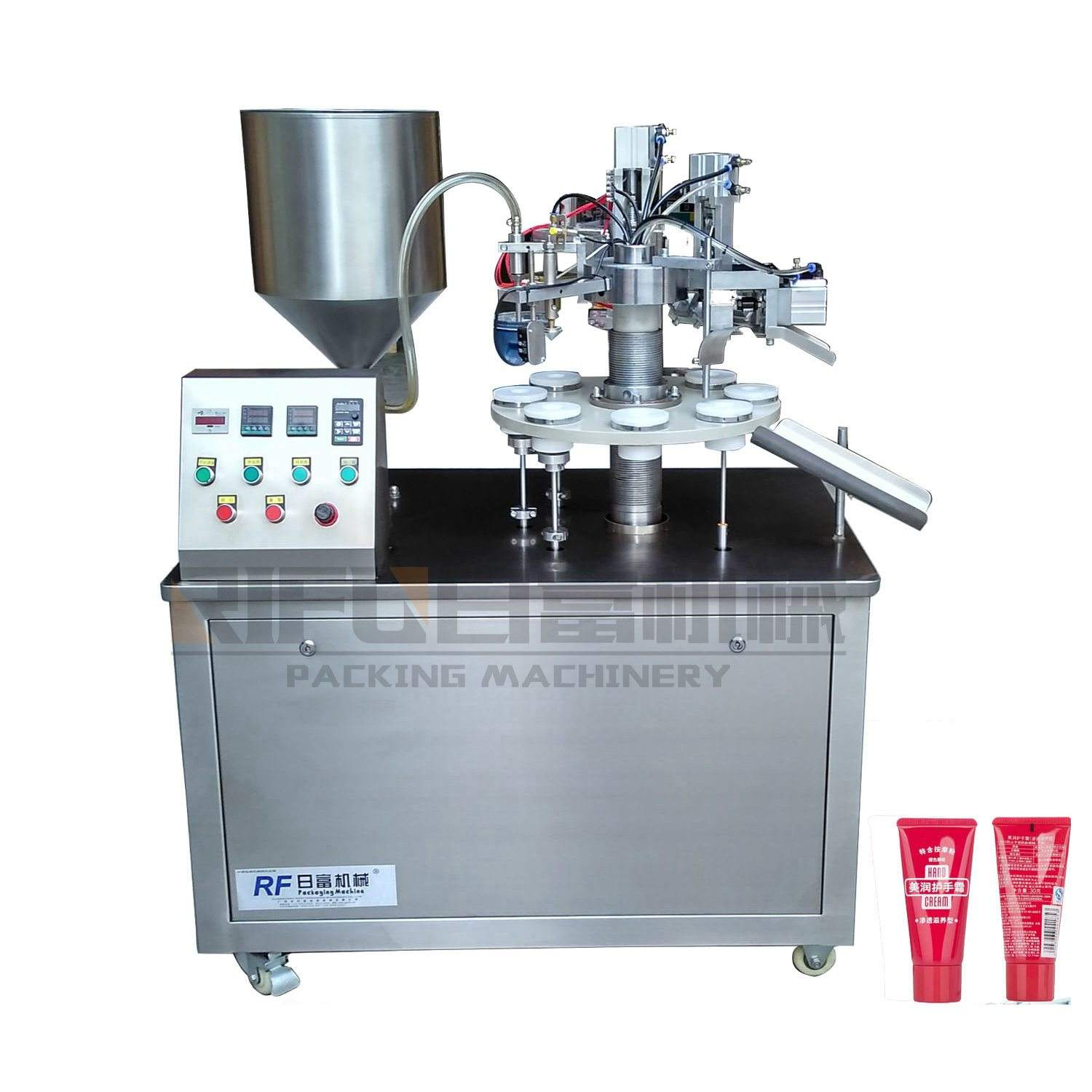 High quality RIFU Machinery grease cream tablet lotion collapsible tube filling sealing machine