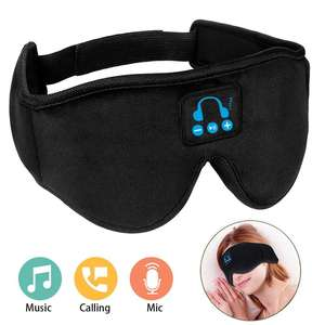 Custom Adjustable Washable Wireless Bluetooth Headphones Music Travel Sleeping Headset Eye Mask