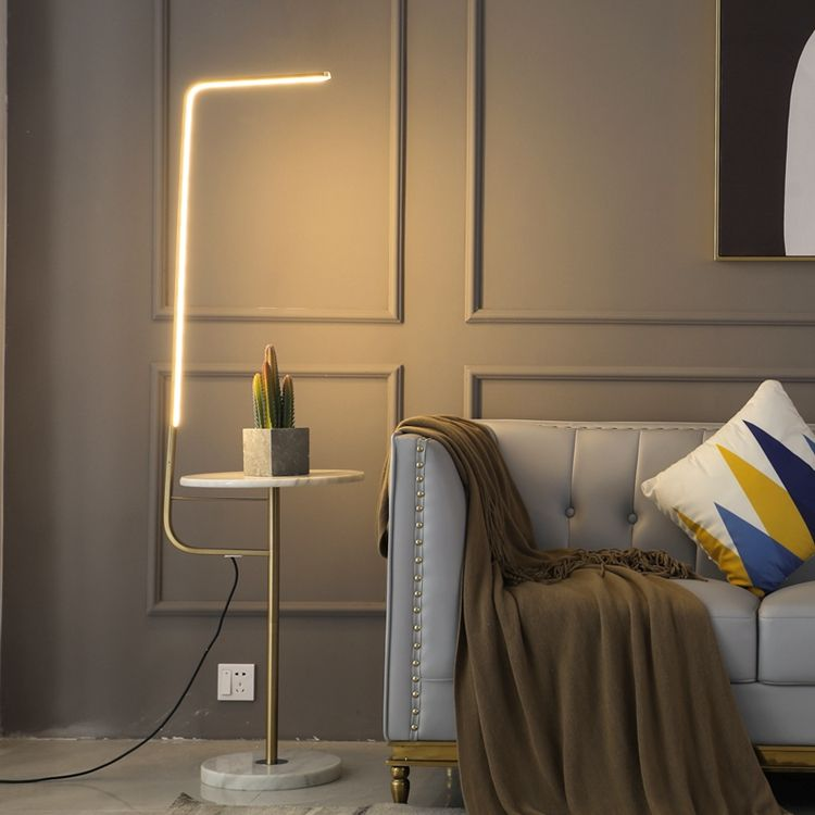 Nordic Minimalist Bedroom for Living Room Hotel corner led lamp with Table Corner Standing Home Decor Corner Floor Lamp