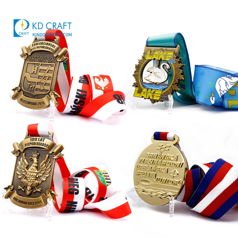 Manufacturer in china custom metal 3D antique brass plated sports race running bespoke medals for sale