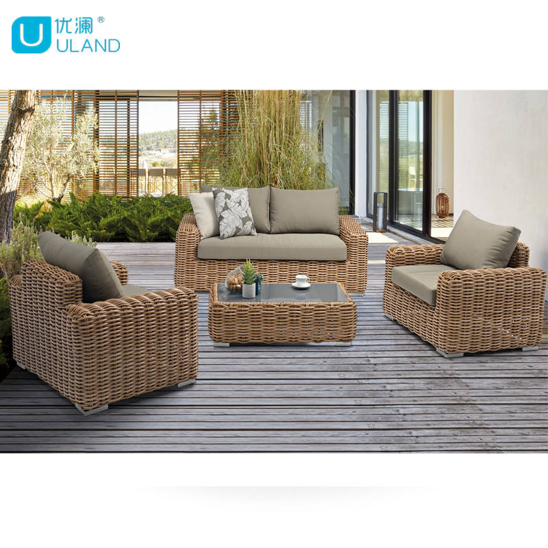Uland Outdoor Patio Furniture New Garden Rattan Sofa Furniture Home Garden Outdoor Sofa
