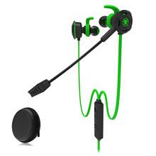 G30 Game Earphone,Plextone Wired Gaming Earphone with Detachable Long Microphone