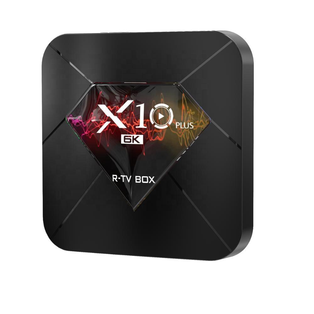 Быстрая доставка smart tv box android9.0, 4 Гб оперативной памяти, 32 Гб встроенной памяти, TV box x10plus с Disneyplus