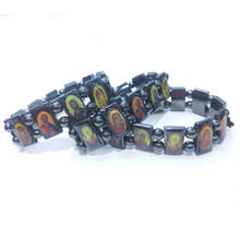 Orthodox Christian hand jewelry religious icon beaded black  bracelet