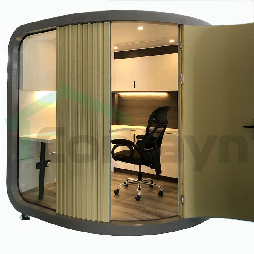 2.15x 2.15m Hot Sale office pod in backyard office cabin in home pod prefab work in garden efficiency independent space