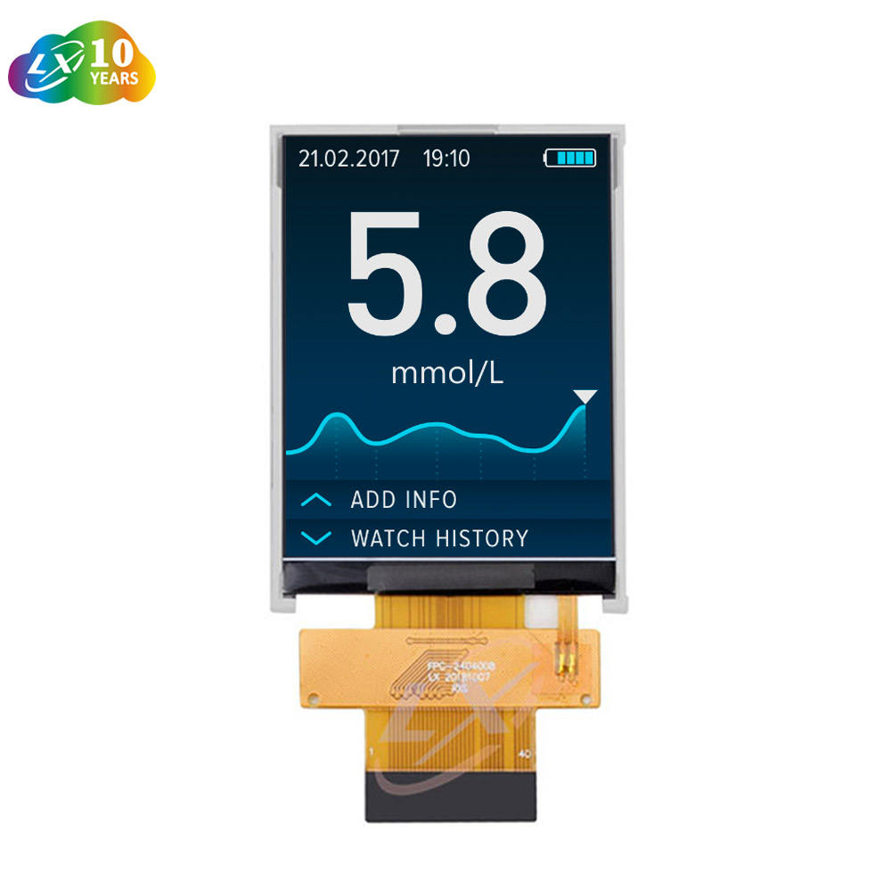 LXDisplay Medical grade 2.4 inch 240x320 QVGA TFT LCD Hot selling Consumer Electronics ST7789V2 4-SPI LCD Display modules