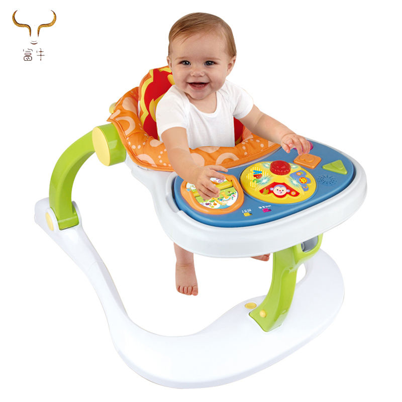 Top quality education intelligence plastic musical baby walker best price round Walker for toddler