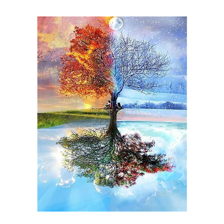 Hot selling Four Seasons Tree Landscape DIY Diamond Painting Kit For Home Decor