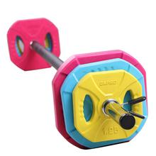 OKPRO Weightlifting Equipment 20kg Rubber Color Barbell Weight Set/Barbell Set