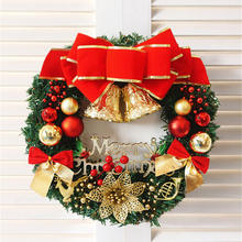 APHACATOP New Design 30cm/40cm/50cm60cm Realistic  Red Poinsettia Decorations Christmas Wreath