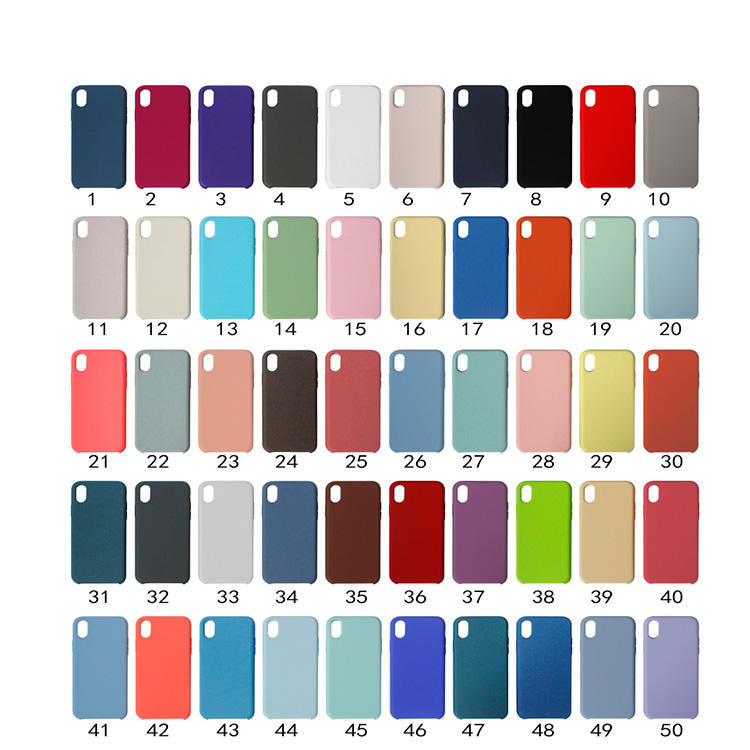 2020 factory promotion Liquid silicone case Mobile Cell Phone Case Back Cover for Iphone