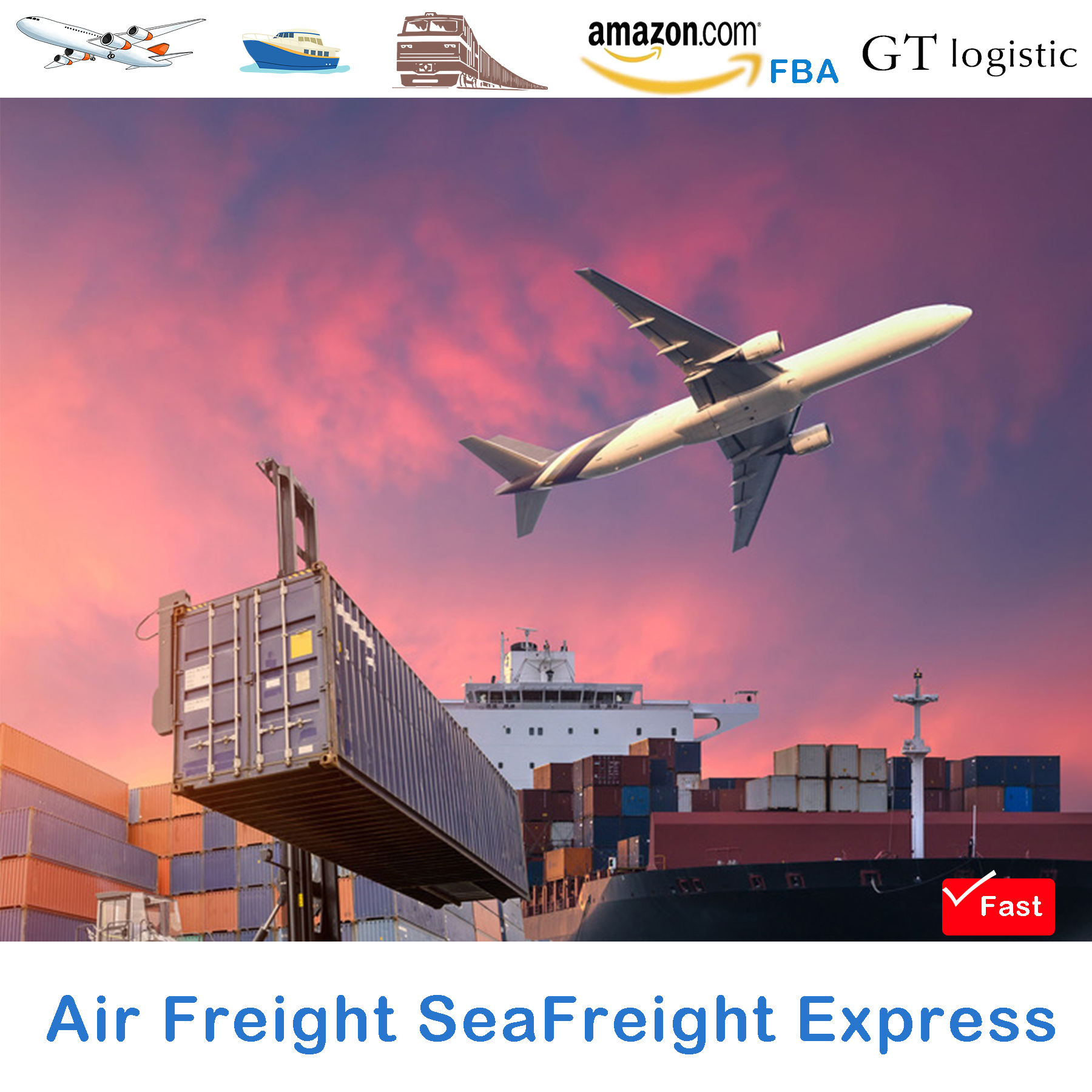 Cheapest Air Freight Forwarder DDP From China to Asia/USA/UK/Germany/Europe/Canada/Dubai Amazon DDP Door To Door Service