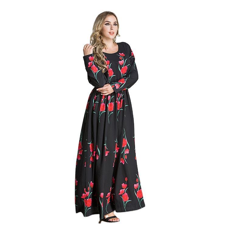 Women Long Dress Muslim Women Clothing Long Sleeve Arabic Dress Egyptian Islamic Clothing