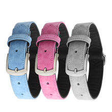 Factory Free Sample Fashion Pet Dog Collar , Private Leather PU Dog Collars Logo Custom