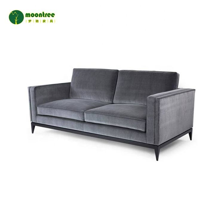 Solid Wood [ Sectional Sofa ] Modern Sectional Sofa Sets Customized 2 Seater Velvet Fabric Sofa Set Luxury Wooden Sofa For Living Room