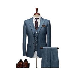 2020 MTM made to measure 2 piece men business formal suit custom handmade 3 Pieces Jacket Pant Vest Men slim Suits for men