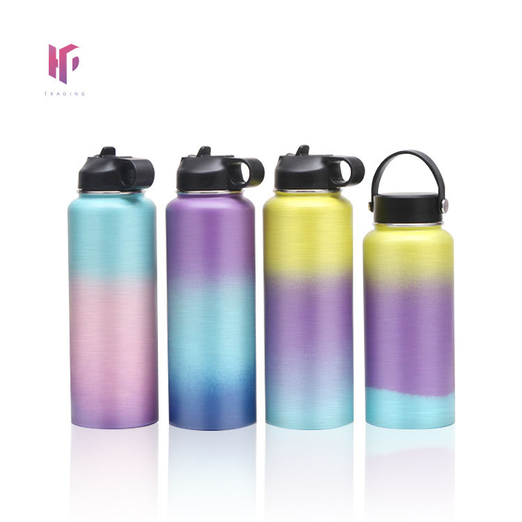 Stainless Steel Water Bottle 32 oz Vacuum Insulated Double Walled Leak Proof Sports Water Bottle with Straw for Gym Travel